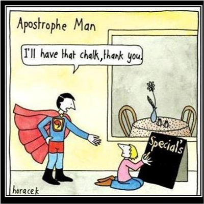 Apostrophe Man With Comma