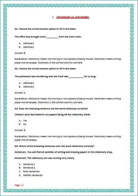 Commonly Confused Words Set 3 4