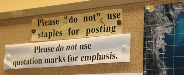 Don't Use Quotation For Emphasis